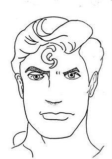 careta de superman un hombre mascara antifaz