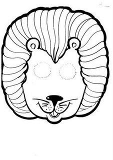 careta de un león mascara antifaz