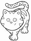 dibujos de gatos para colorear y pintar