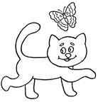 Dibujos para colorear gatos
