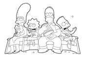 Dibujos para colorear Los Simpson