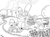 dibujo de los simpsons en la central nuclear para colorear dibujos de los simpsons para colorear y pintar para niños imprimir dibujos infantiles