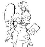 dibujo de la familia simpson posando para foto para colorear dibujos de los simpsons para colorear y pintar para niños imprimir dibujos infantiles