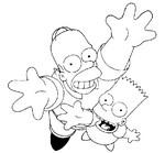 dibujo de homer simpson y bart simpson para colorearDibujos para colorear Los Simpson
