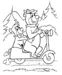 dibujos del oso yogi para colorear y pintar para niños imprimir dibujos infantiles