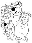 Dibujos para colorear Oso Yogi