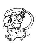 dibujo de Bluto, el rival de popeye para colorear dibujos de popeye para colorear y pintar para niños imprimir dibujos infantiles