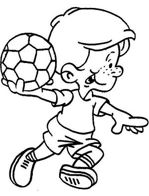 dibujo de balonmano para colorear dibujos para colorear de deportes