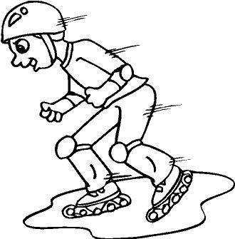 dibujo de patinaje para colorear dibujos para colorear de deportes