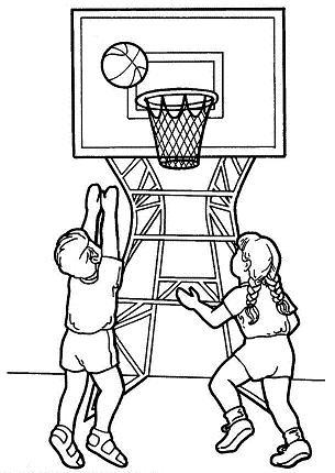 dibujo de baloncesto para colorear dibujos para colorear de deportes