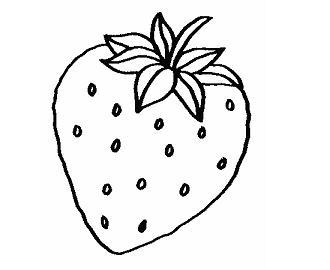 dibujo de una fresa para colorear dibujos de frutas para colorear y pintar