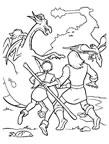 dibujos de excalibur para colorear y pintar para niños imprimir dibujos infantiles