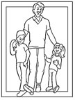dibujos del día del padre para colorear y pintar