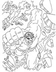 dibujos de hulk para colorear y pintar para niños imprimir dibujos infantiles