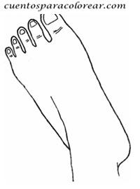 dibujo de un pie para colorear dibujos para colorear del cuerpo humano pie