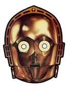 careta de c3po de la guerra de las galaxias mascaras antifaz star wars