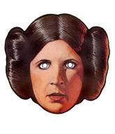 careta de la princesa leia de la guerra de las galaxias mascaras antifaz star wars