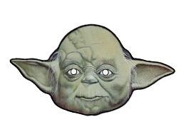 careta del maestro jedi yoda de la guerra de las galaxias mascaras antifaz star wars