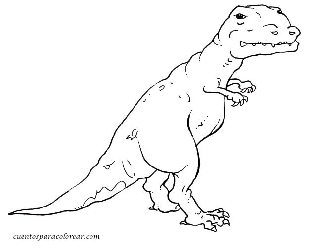dibujo de un t-rex para colorear dibujos para colorear y pintar de dinosaurios