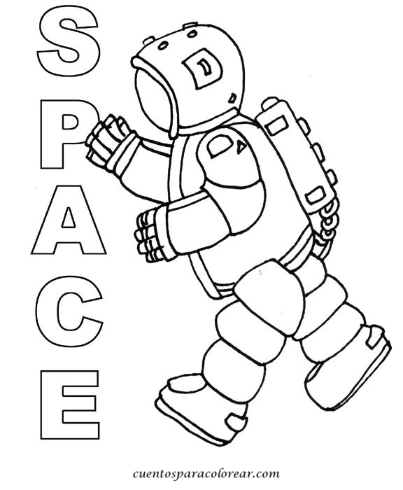 childrens space coloring pages - photo#19