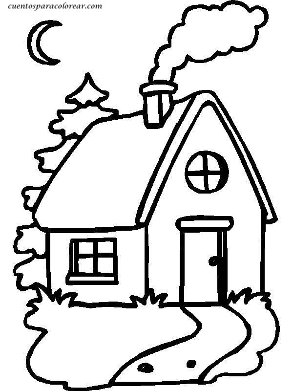 Hermosa Casa Para Colorear Páginas En Línea Patrón - Dibujos Para ...