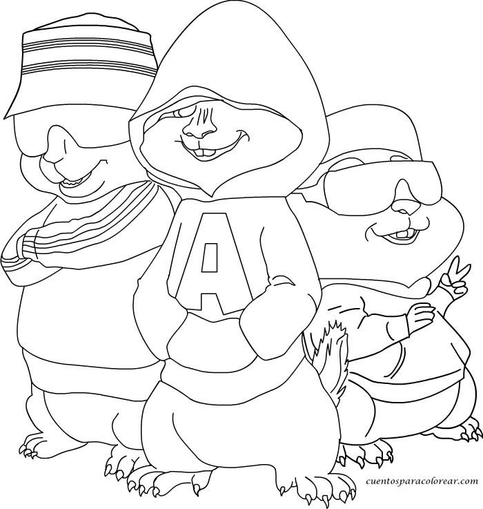 Dibujos Para Colorear Ardillas