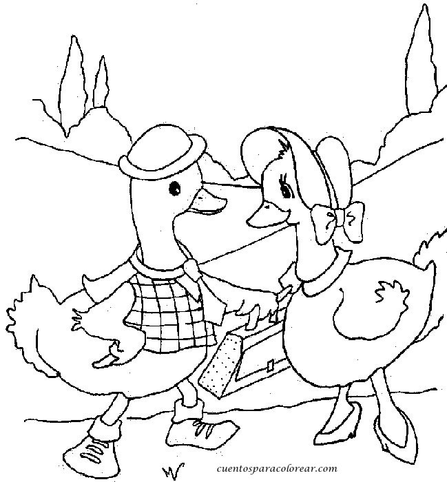Dibujos para colorear patos - Dibujos para pintar en tela infantiles ...