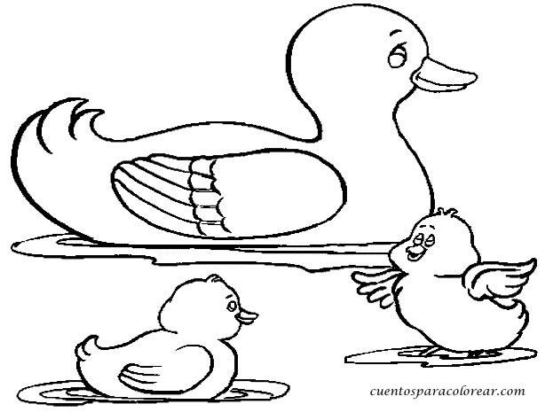 Dibujos De Patos Para Colorear Para Niños: Dibujos Para Colorear Patos