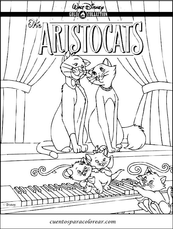 Hermosa Disney Aristogatos Para Colorear Friso - Dibujos de Animales ...