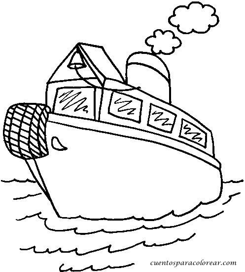 Dibujos Para Colorear Barcos