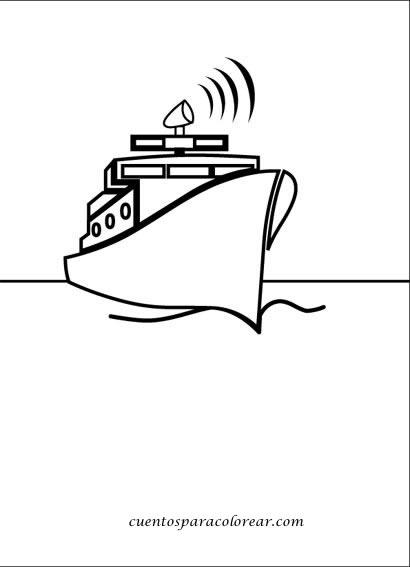Dibujos para colorear barcos - Paquebot dessin ...