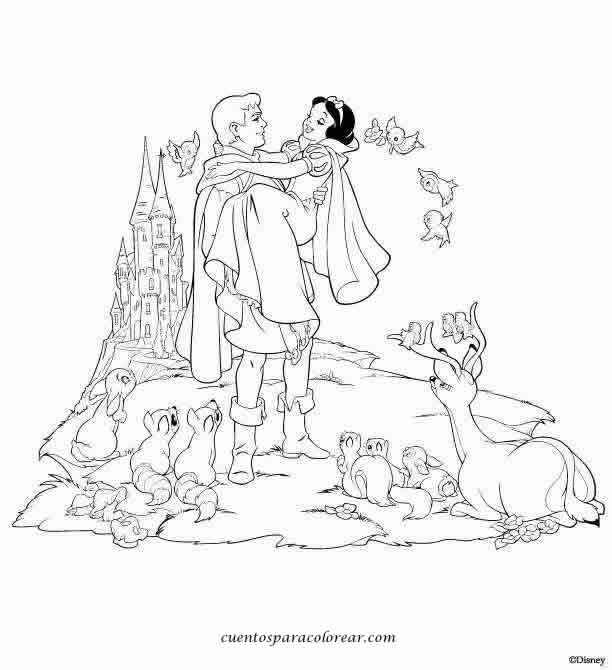 Dibujos Para Colorear Del Cuento De Blancanieves El cuento de ...
