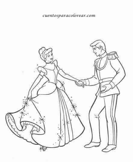 Dibujos para colorear la Cenicienta princesa