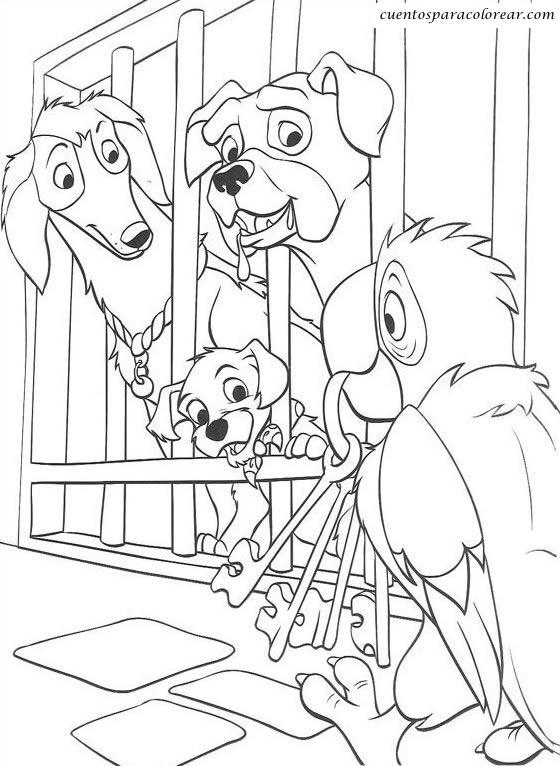 Dibujos para colorear 101 Dálmatas Disney