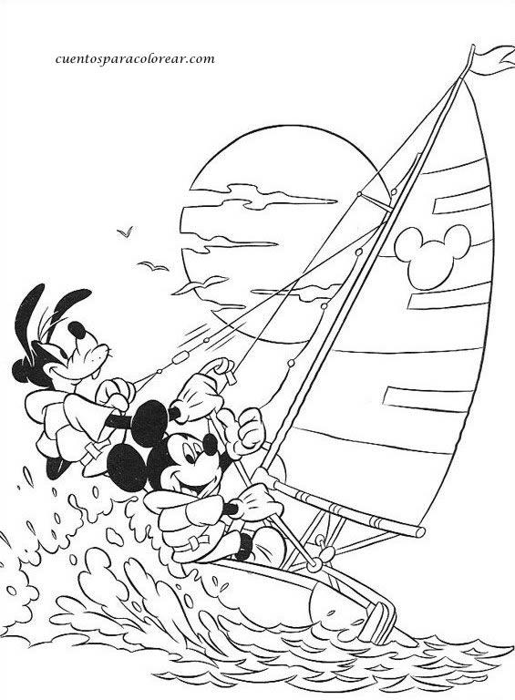Dibujos Para Colorear Verano Disney 💠Verano Dibujos para colorear25 ...