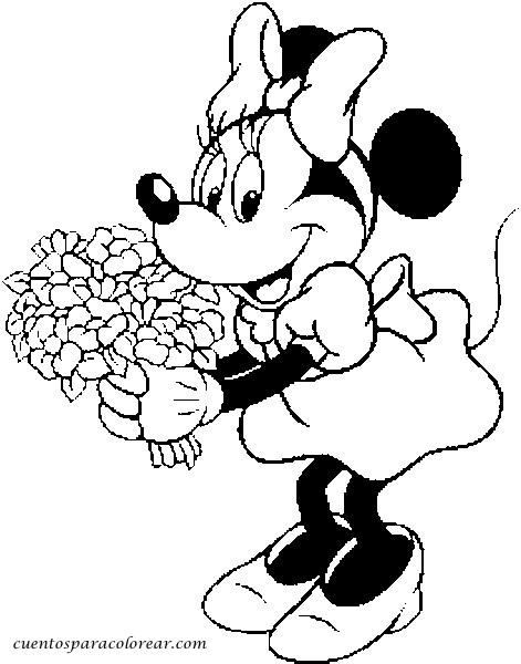 Dibujos para colorear Minnie Mouse