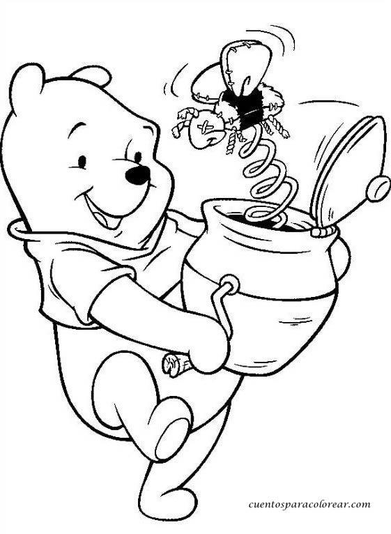 Dibujos para colorear Winnie De Pooh Disney