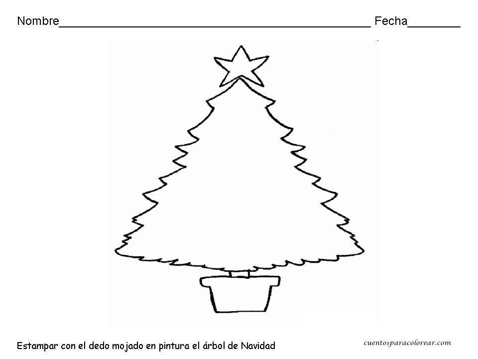 Fichas de navidad para colorear infantil