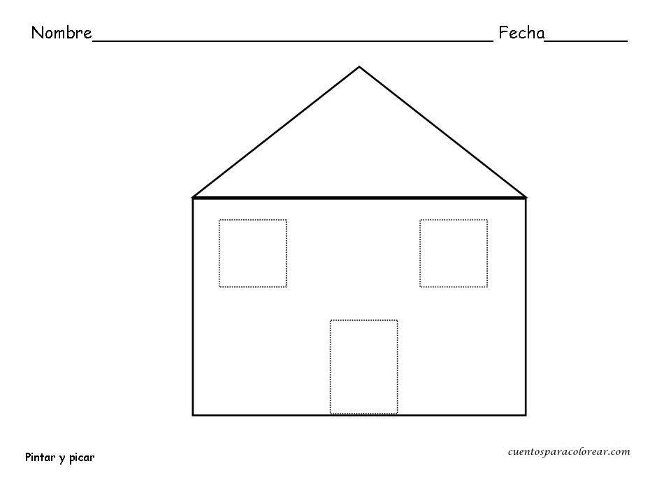 Fichas educativas de formas geom tricas - Formas de pintar una casa ...