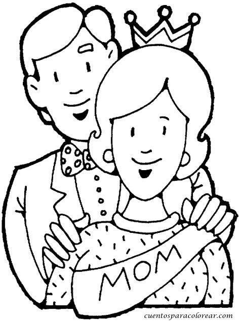 Dibujos para colorear d a de la madre - Dibujos para dibujar en la pared ...