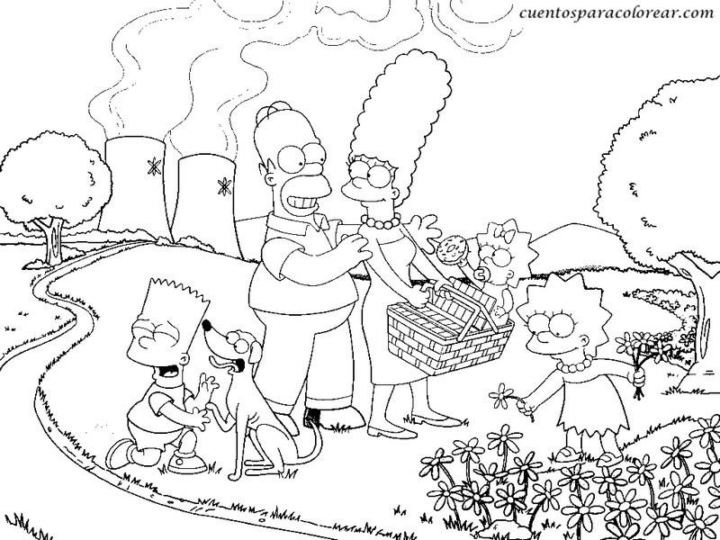 Dibujos para colorear los simpson - Coloriage les simpson ...