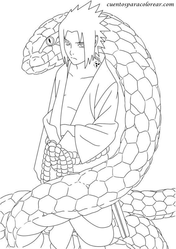 Dibujos para colorear Naruto