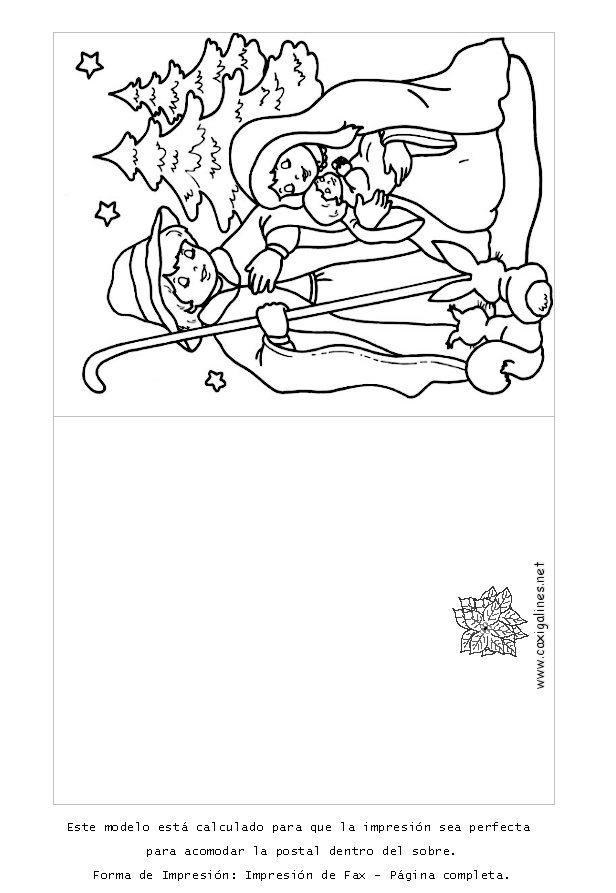 Felicitaciones De Navidad Para Colorear Y Imprimir   Bernadettes