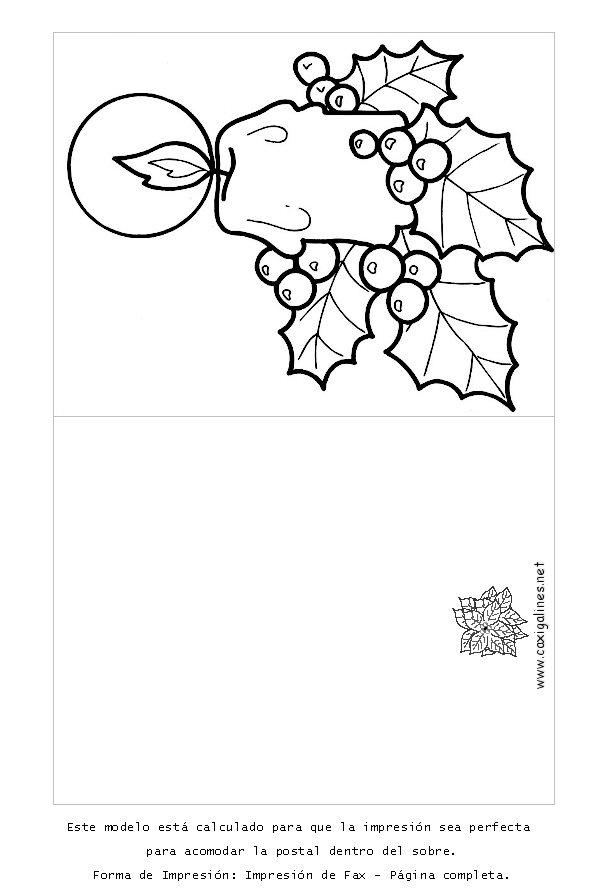 Postales de navidad para ninos para imprimir