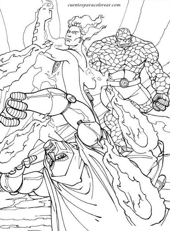 Dibujos para colorear Los cuatro fantásticos