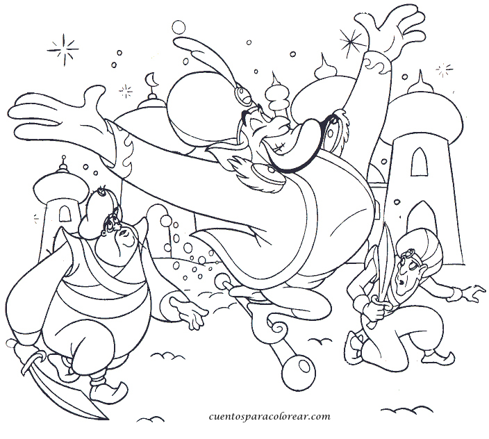 Dibujos para colorear Aladin