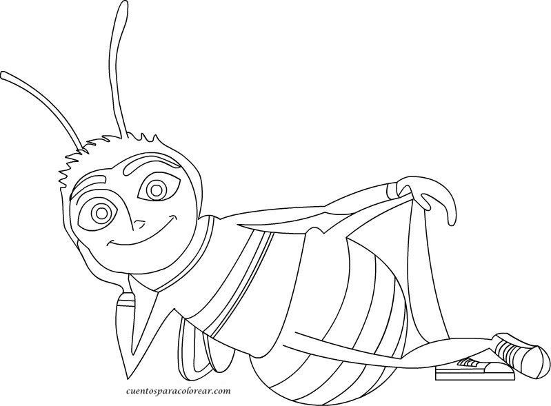 Dibujos para colorear Bee movie