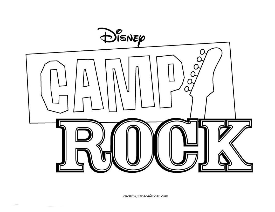Dibujos para colorear camp rock - Poster coloriage ...