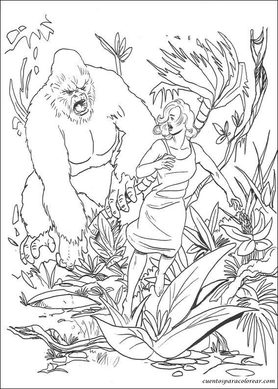 Dibujos para colorear King Kong