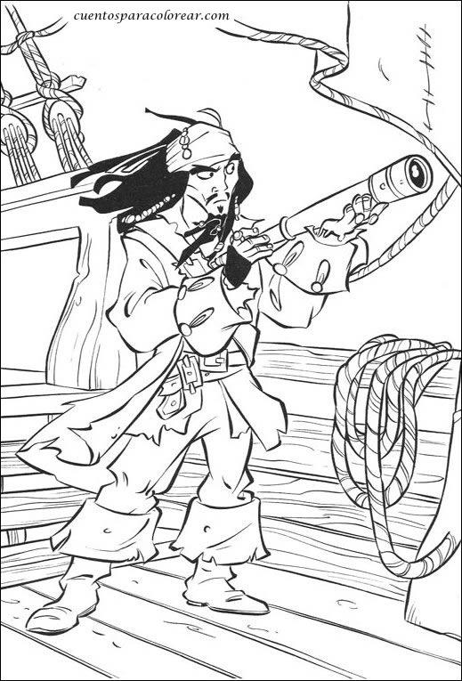 Dibujos Para Colorear Piratas Del Caribe